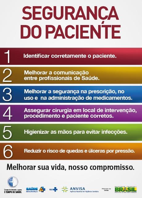 metas de segurança do paciente